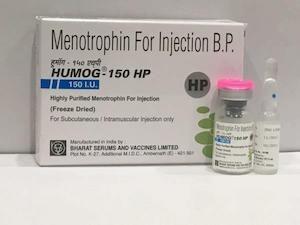 hmg 150 , hmg 75 iu , menotropin 150 , humog 150 , humog 75 , menotroin 75 iu