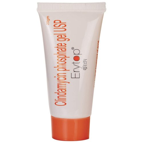 Erytop gel is prescribed for treating acne. It decreases the spots where acne has caused severe effects. Buy Erytop gel online