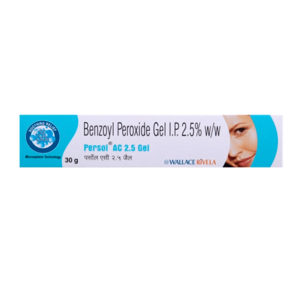 Buy Persol AC Gel 5% Benzoyl Peroxide online persol ac gel 2.5% for cheap price online